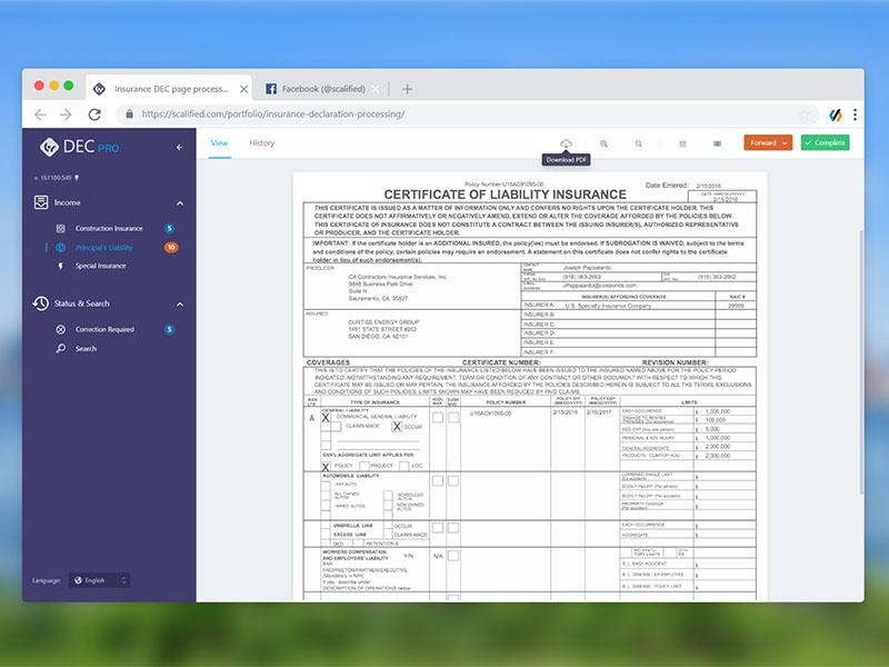 Insurance Declaration Processing
